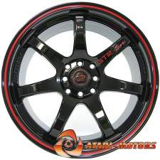GTR Sports Black&Red R17 4x100/114.3 ET42 7.5J