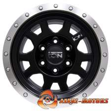 ION ALLOY BLACK&SILVER R15 6x139.7 ET-10 8.0J