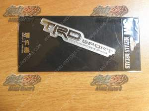 TRD SPORT METAL STICKER 90 x 17 mm