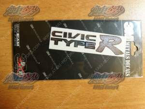 CIVIC TYPE-R METAL STICKER 80x22 mm